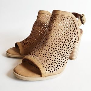 Heeled Sling Back Cut Out Bootie Universal Thread